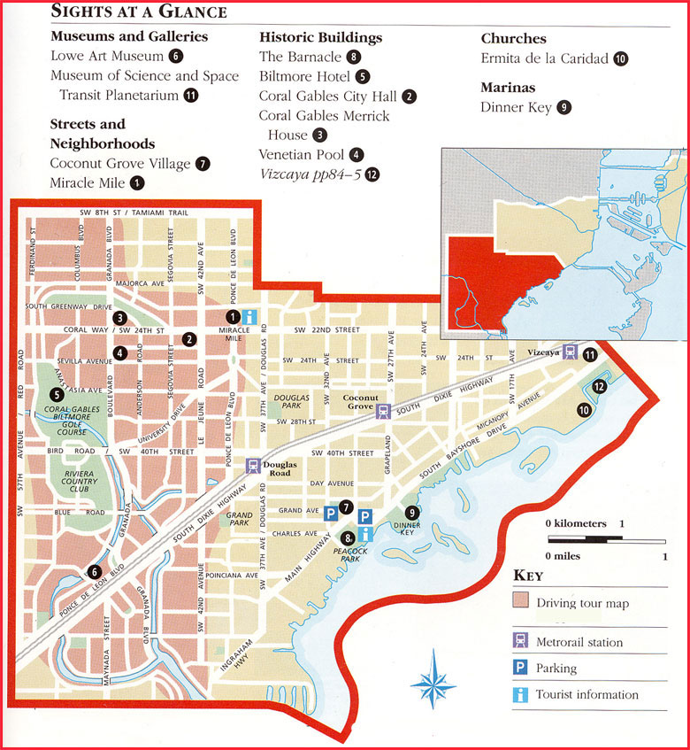 Coral Gables Florida Map