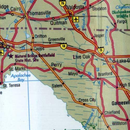 Greenville Florida Map.Map Of Florida
