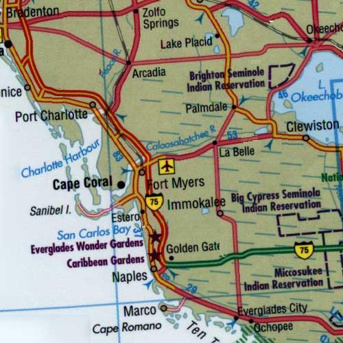 Ochopee Florida Map.Map Of Florida